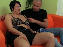 That guy picks up cute plumper and smashes her