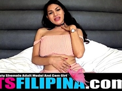 Sexy TS Filipina Works Her Pussycock For You