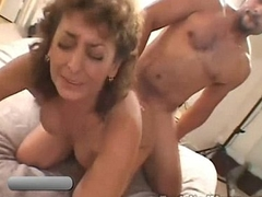 50 Year Old Amateur Granny Gets Busy on Big Black Cock to Bi-racial Video