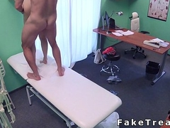 Checked patient gets immutable cock from doctor