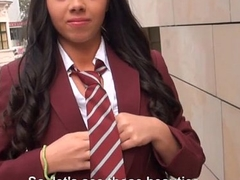 Schoolgirl labyrinth tits with the addition of receives drilled