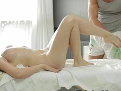 Nuru-Massage PornVideo Featuring Adventurous Euro Teen