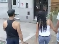 Stranger Fuck His Girlfriend and Beg him Cuckold for Cash