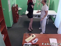 Burly redhead student deepthroats and fucks doctor
