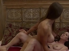 Bigtitted mature lesbo tribbing hot chick