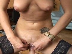 Cheating wife taking it totally abyss less her indiscretion and pussy