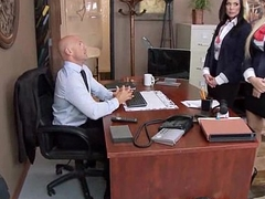 Office sex with busty body of men handy work 21