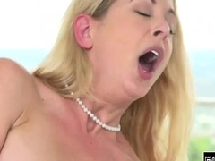 Blonde MILF turning up the fuzz BhuttuSex.IN