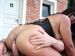 Busty Brazillian Shemale Outdoor Barebacking