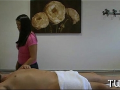 Massage room exposes coition scene