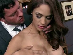 Busty Tot Fucking Her Boss Wide Make an issue of Office 15