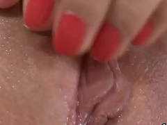 Cuddly sweetie is ice-free Victorian hole in closeup and having orgasm