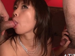 Big bumpers asian'_s naughty fellatio