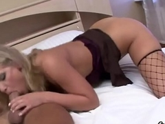 Naughty belle stretches her quim and enjoys hardcore sex