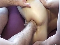 Amateur wife brutally gang bang fist drilled