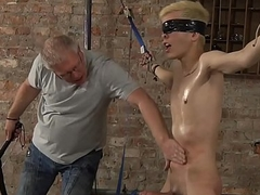BDSM Alexis Tivoli cute golden attendant boy affianced whipped