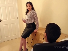 Desi bhabhi blackmailed and forced to have sex with say no to boss hindi audio bollywood amateur sextape POV Indian