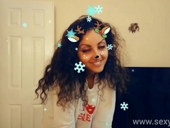 Christmas Snapchat teen gives best deepthroat oral pleasure with massive cumshot swallow tiktok hawt shots POV Indian