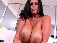 MomPov thick curvaceous MILF connected with obese tits and ass fucking anal invasion POV