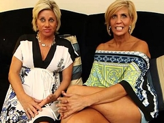 Two MILFs lady-love mompov dude