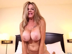 MomPov big heart of hearts slutty cougar grandma cumslut getting fucked POV