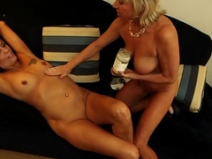 Hot wife increased by slutty friend suck dudes cock increased by take cum facial POV