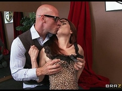 Firery redhead Ashley Graham gets a lesson in deep penetration