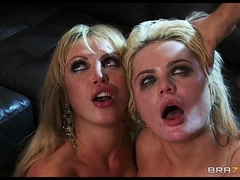 Two blonde gfs have a foursome with their neighbors