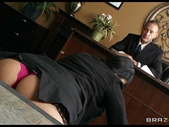 Submissive post assistant Missy Martinez finally fucks her boss