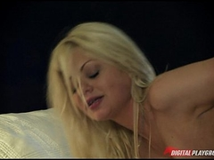 Slutty blonde babe gets being spanked & drilled to intense orgasms