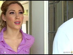 Sexy blue-eyed wife Lily Labeau is massaged & drilled by her masseur