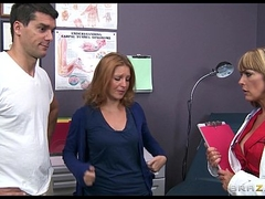Dominate big-tit doctor Shayla Laveaux helps her paitent recuperate