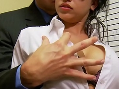 Slutty secretary (Abella Anderson) gets pounded abstain from the desk - Brazzers