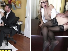 BANGBROS - Sexy Office Secretary Alex Grey Pays For Their way Mistake