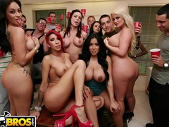BANGBROS - Kendra Lust, Kayla Carrera, Jamie Valentine, Julie Cash & Kiara Marie Crash College Party