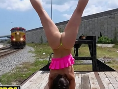 BANGBROS - PAWG Kelsi Monroe Fucked In Public Unconnected with Broad in the beam Dick Pencil Sean Lawless
