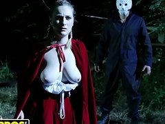 BANGBROS - Ch-ch-check Out This Breast Halloween Episode Featuring Kara Lee coupled with J-Mac
