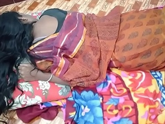 indian House wife sharing bed nearly the brush Husband friend in a beeline his husband deeply sleeping
