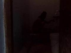 Desi wife Sensuous Herself Yon Shit & peeing toilet