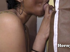 South Indian girl gives sloppy oral job for money