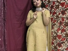 Rupali Indian Girl Close to Shalwar Suit Stripping Show