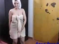 Indian Amateur Horny Wife Sonia after Shower Hard-core Intercourse In Bedroom