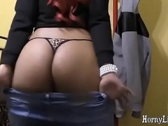 HornyLily shaking her huge black booty in all directions her reins