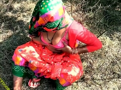 Indian Desi Village Aunty Getting Fucked Outdoor Village Outdoor