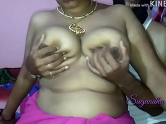 Shy big Indian wife flashes her C cup Bristols on my camera