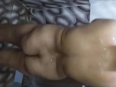 Upskirt - 45 yo BBW Indian wife rubs her wet shaved cunt