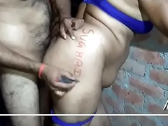 hot desi bhabhi in yallow saree peticoat and blue bra panty fucking hard oozed mms