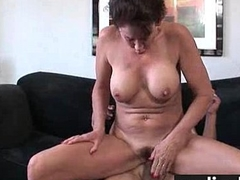 Hairy Winnie gets a hard cock stuffed in her gradual pussy 1