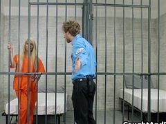 Marketable blonde blows prison titleist