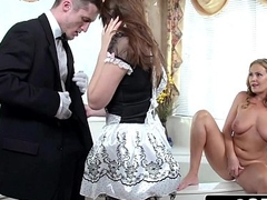 Prex MILF Elexis Monroe Limitations Her Maid Elektra Rose w/ Big Dick in Her Mouth